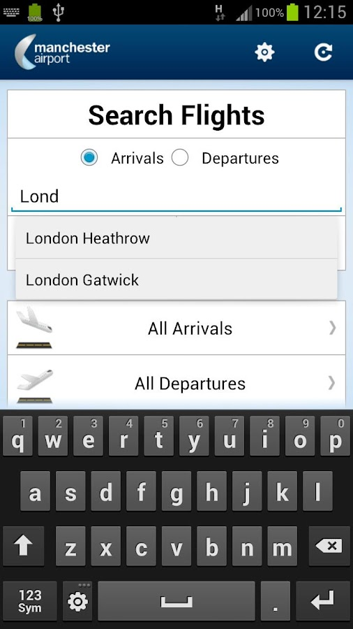 Manchester Airport- screenshot