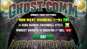 Screenshot of GHOST COMM - Lottery Numbers