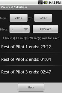 Aviation Crewrest Calculator- screenshot thumbnail