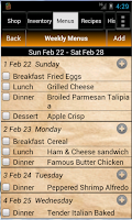 Screenshot of Grocery Tracker Shopping List