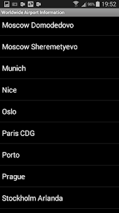 Worldwide Airport Information Screenshot