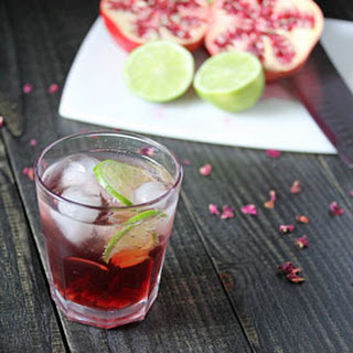 Pomegranate Rosewater Spritzers
