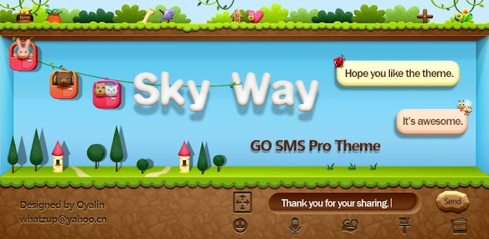 GO SMS PRO SkyWay ThemeEX