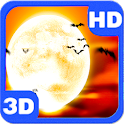 Full Moon Scary Flying Bats 3D icon