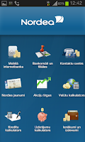 Screenshot of Nordea Latvija