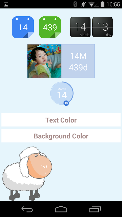 baby age widget : First baby - screenshot