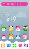 Screenshot of Baby ZOO LINE Launcher Theme