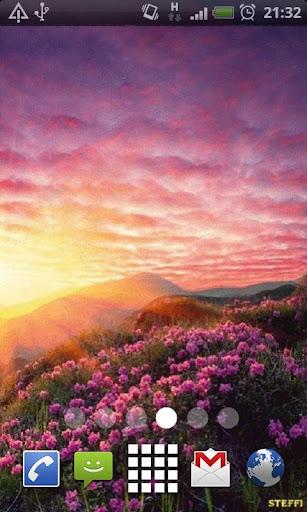 Spring Sunset Mountains LWP