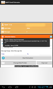 IMAP Email Extractor- screenshot thumbnail