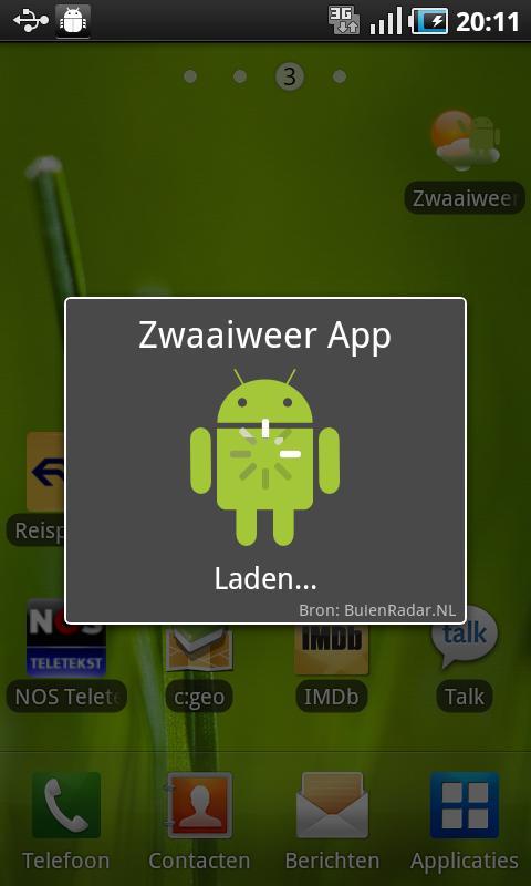 Zwaaiweer App - screenshot