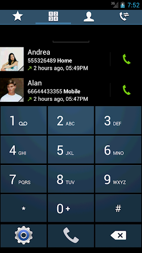 Swipe Dialer GS4 Dark Theme