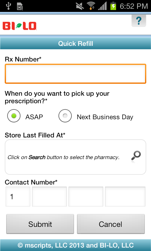 BI-LO Rx - screenshot