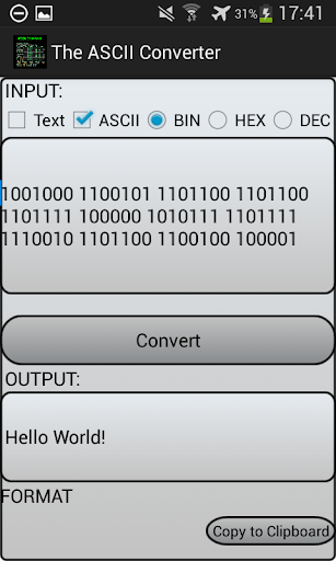 The ASCII Converter