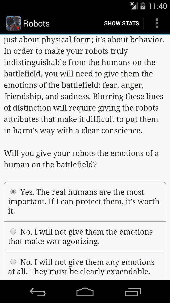 Choice of Robots screenshot #4