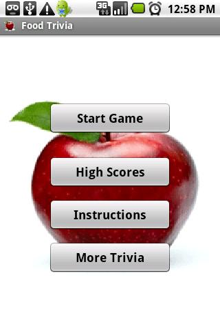 Food Trivia - screenshot