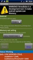 Screenshot of StressRobo