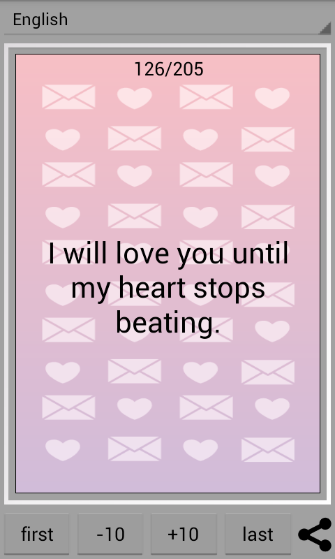 love sms love letters screenshot