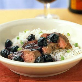 Duck Breast with Double-Cherry Sauce.