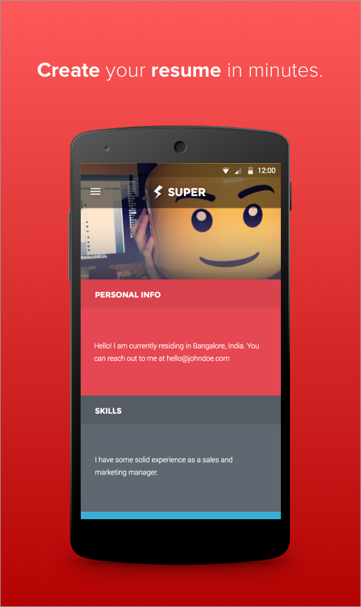 Super - Jobs & Resume builder - screenshot