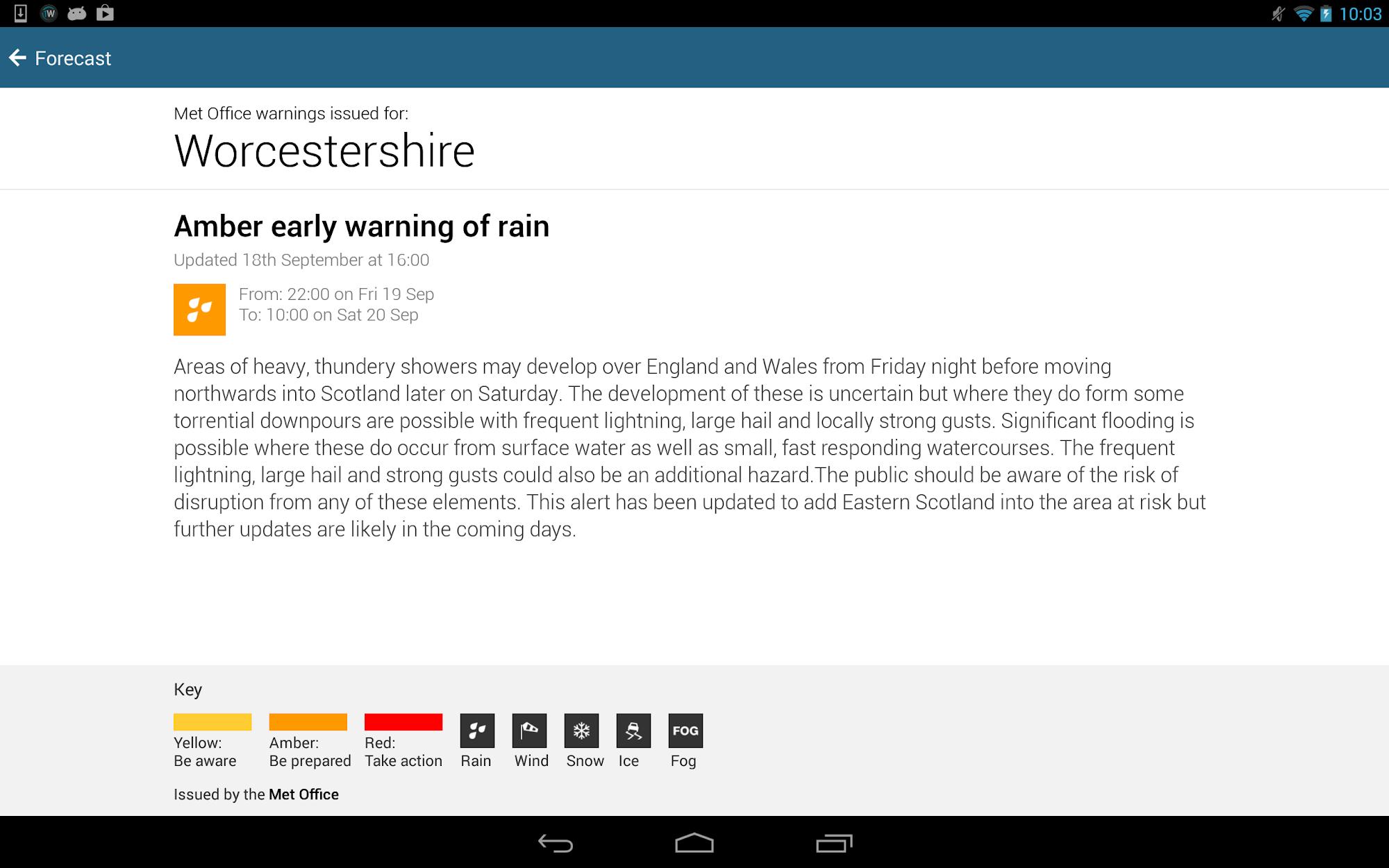BBC Weather screenshot #12