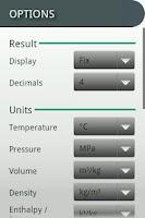 Screenshot of Steam Tables