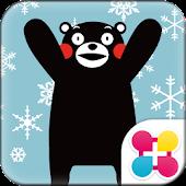 【無料】くまモンと雪 for[+]HOMEきせかえテーマ