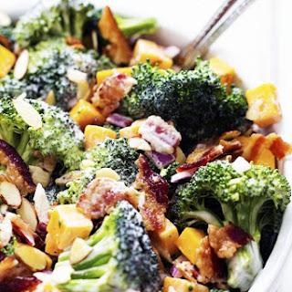 Creamy Broccoli Cheddar Bacon Salad.
