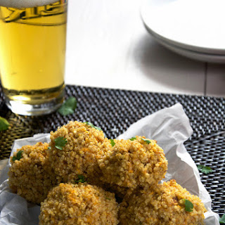 Quinoa Encrusted Loaded Sweet Potato Bites