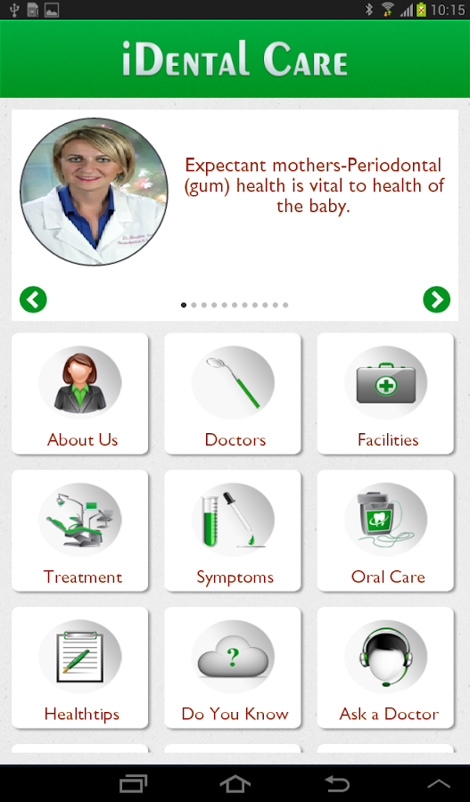 iDental Care App- screenshot