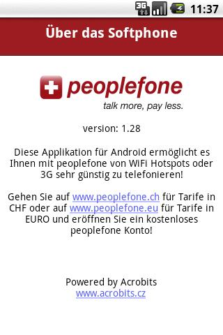 peoplefone - screenshot