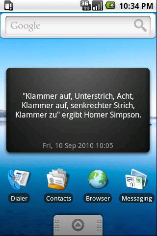 Unnützes Wissen Widget - BETA- screenshot
