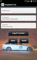 Screenshot of Haugaland Taxi