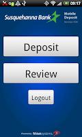 Screenshot of Mobile Deposit