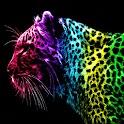 3D Color leopard logo