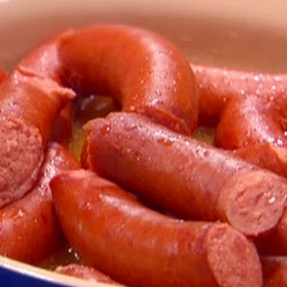 Philly-style Kielbasa With Fennel Sauerkraut And Peppers