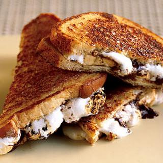 Caramelized Chocolate, Banana, and Marshmallow Sandwiches.