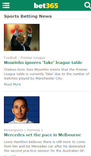 bet365 News- screenshot thumbnail