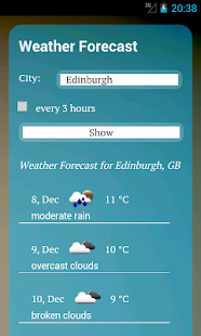 UK Weather - 7 day forecast - screenshot thumbnail