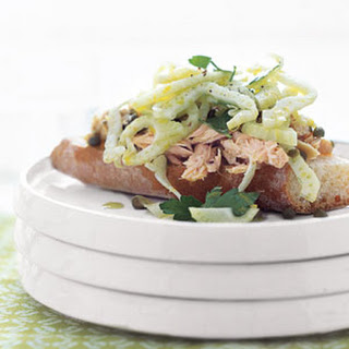 Open-Faced Tuna and Fennel Sandwiches.