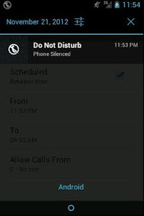 Do Not Disturb Screenshot