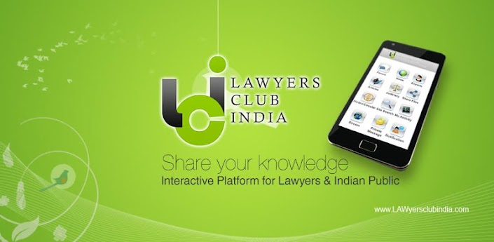 Click the Image to Download Lawyers Club India Android Apps