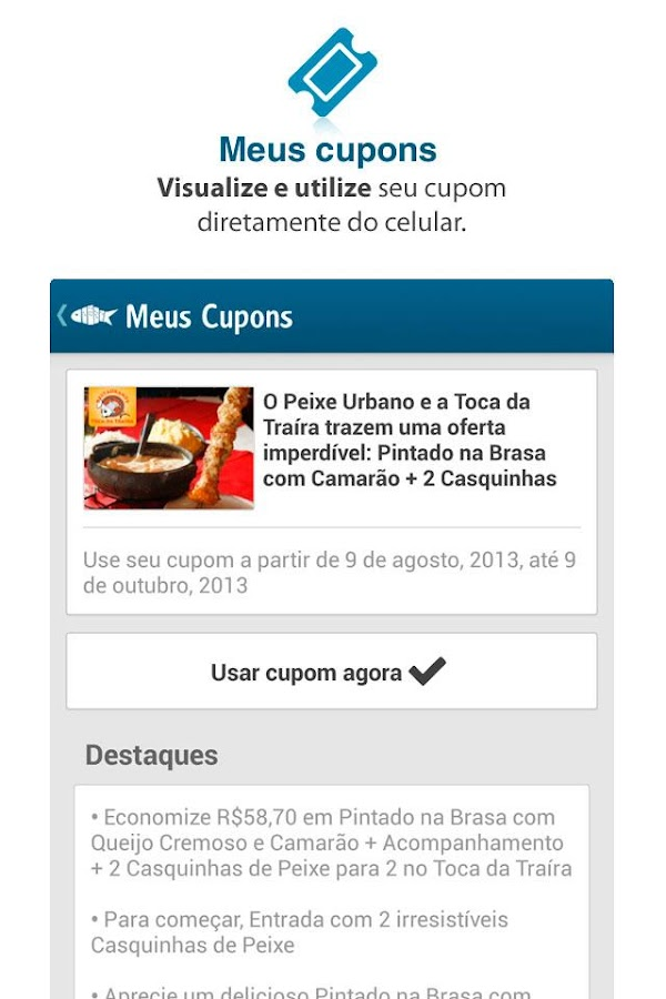 Peixe Urbano - screenshot