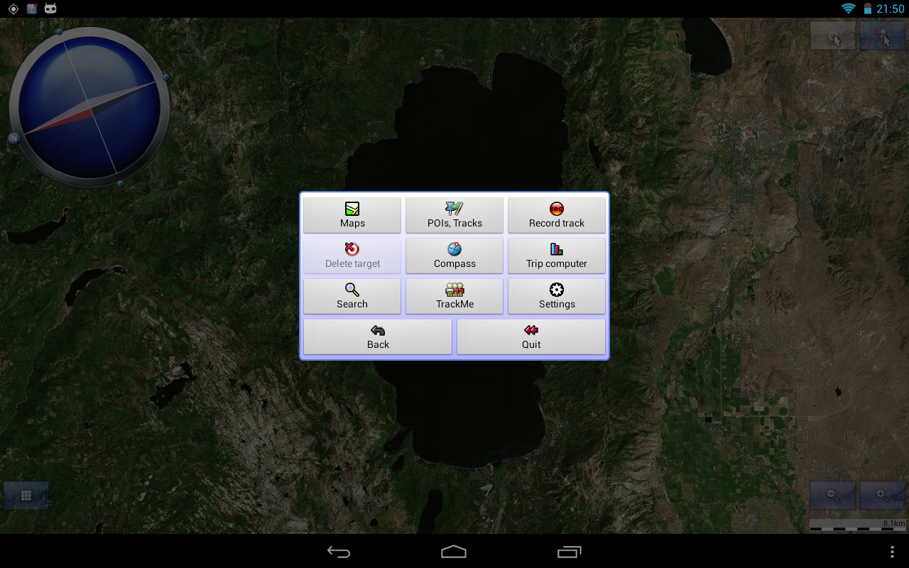 Tracky GPS Navigation+ Compass- screenshot