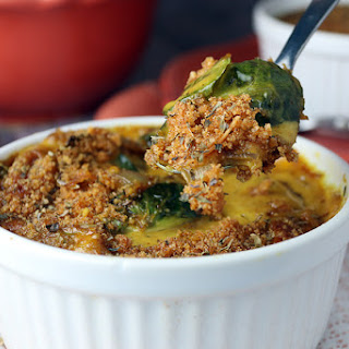 Keto Au Gratin Brussels Sprouts