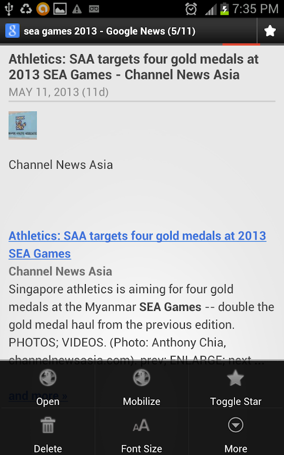 SEA Games News Score Updates - screenshot