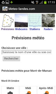 Météo Landes - screenshot thumbnail