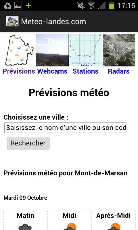 Météo Landes - screenshot