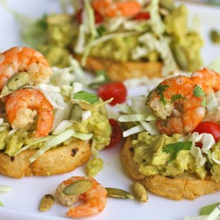 Cilantro-lime Shrimp And Guacamole Sopes