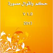 حكم و أقوال مصورة 2014