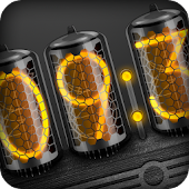 Dark Nixie Clock (Widget)